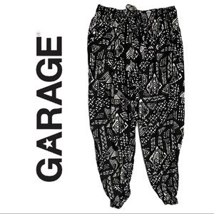 Garage Tribal Boho Jogger Pant Black White